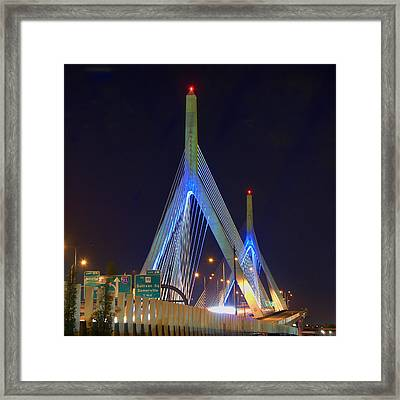 Blue Zakim Framed Print by Joann Vitali