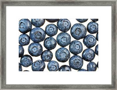 Blueberries Framed Print by Jim Hughes