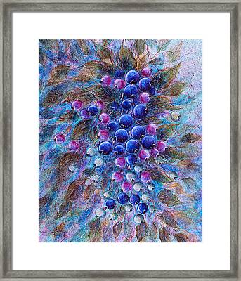 Blueberries Framed Print by Natalie Holland
