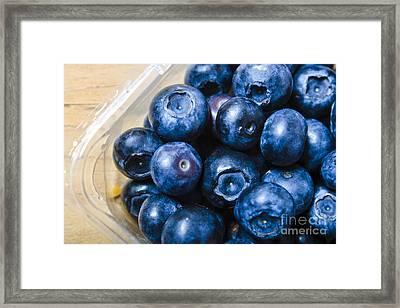 Blueberries Punnet Framed Print by Jorgo Photography - Wall Art Gallery