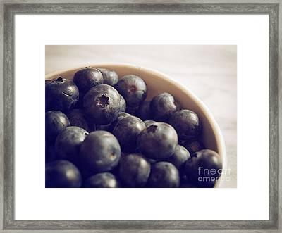 Blueberry Bowl Framed Print by Alison Sherrow