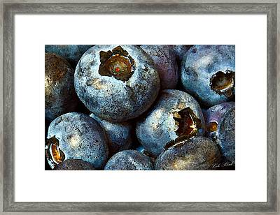 Blueberry Detail Framed Print by Cole Black