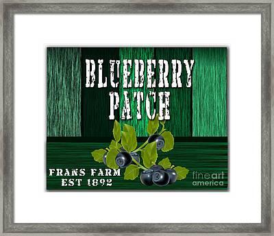 Blueberry Farm Framed Print by Marvin Blaine