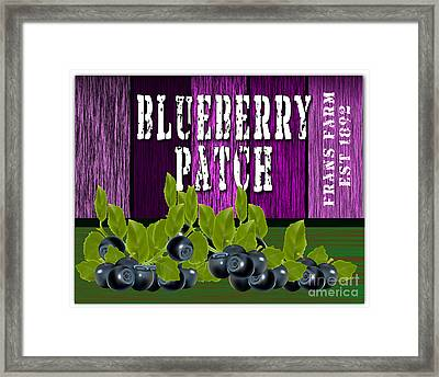Blueberry Patch Framed Print by Marvin Blaine