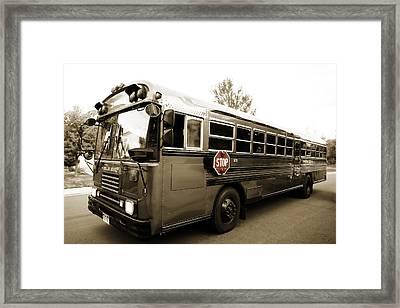 Bluebird Bus Limo 3 Framed Print by Marilyn Hunt