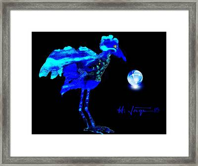 Bluebird Watching Framed Print by Hartmut Jager