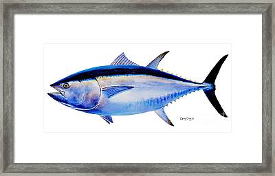 Ocean City Framed Print featuring the painting Bluefin Tuna by Carey Chen