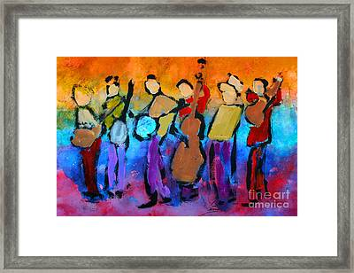 Bluegrass Band Framed Print by Mordecai Colodner