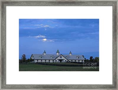 Bluegrass Moonrise - D008766 Framed Print by Daniel Dempster