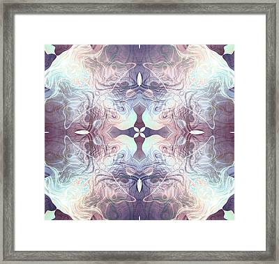 Bluelight Cross Framed Print by Filippo B