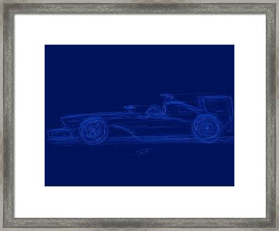 Blueprint For Speed Framed Print by Stacy C Bottoms