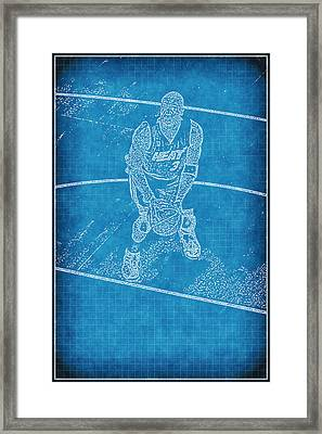 Blueprint Of D Wade Framed Print by Joe Myeress