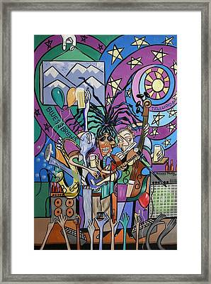 Blues And Brews Framed Print by Anthony Falbo