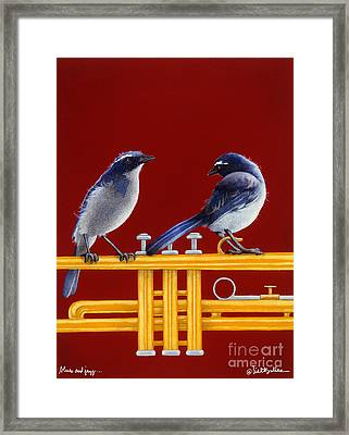 blues and Jazz... Framed Print by Will Bullas