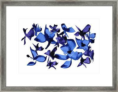 Blues And Violets Framed Print by Frank Bright