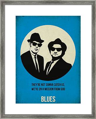 Blues Brothers Poster Framed Print by Naxart Studio