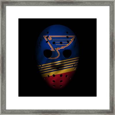 Blues Jersey Mask Framed Print by Joe Hamilton