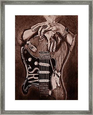 Blues Legend Framed Print by Art Imago