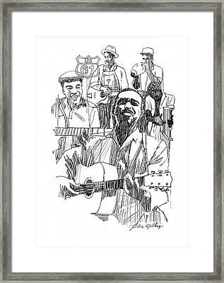 Bluesmen Framed Print by J W Kelly
