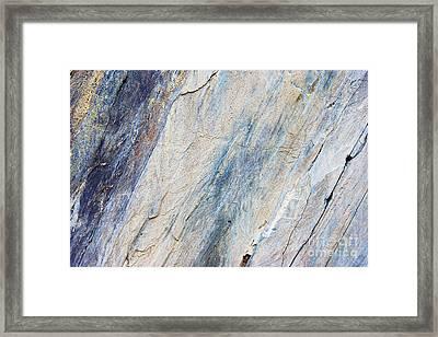 Bluestone - Cleaving Stone Framed Print by Michal Boubin