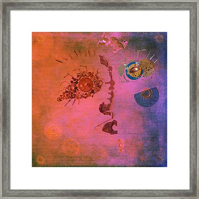 Blushing Bot Framed Print by Fran Riley