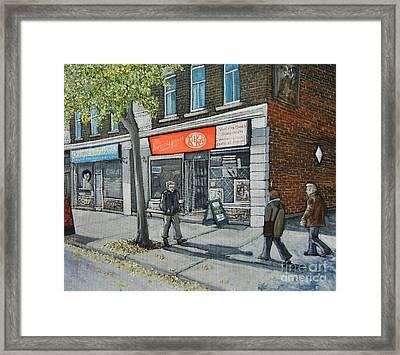 Blvd Monk Ville Emard Framed Print by Reb Frost