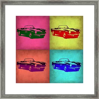 Bmw 507 Pop Art 1 Framed Print by Naxart Studio