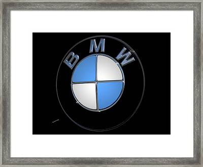 Bmw Emblem Framed Print by DigiArt Diaries by Vicky B Fuller