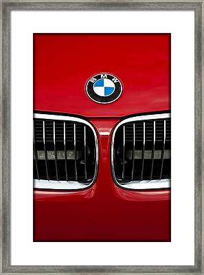 Bmw Grill And Badge E185 Framed Print by Wendell Franks