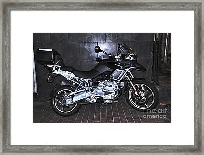 Bmw Motorcycle Framed Print by Kaye Menner