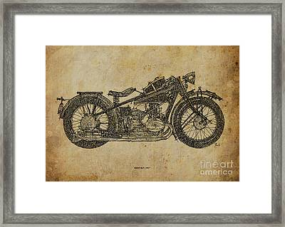 Bmw R47 1927 Framed Print by Pablo Franchi