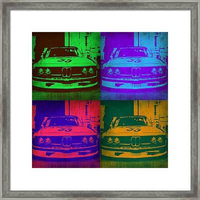 Bmw Racing Pop Art 1 Framed Print by Naxart Studio