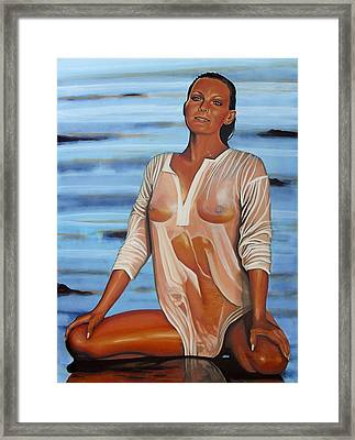 Bo Derek Painting Framed Print by Paul Meijering