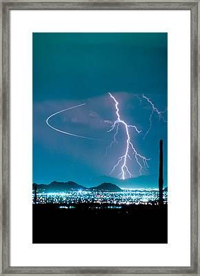 Bo Trek The Lightning Man Framed Print by James BO  Insogna