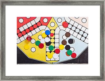 Board Game Framed Print by Tom Gowanlock