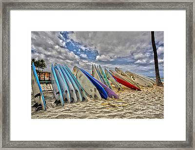 Board Meeting Framed Print by Cheryl Young