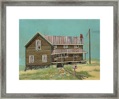 Boarded Up House Framed Print by John Wyckoff
