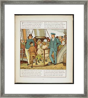 Boarding The Ship At Folkestone Harbour Framed Print by British Library