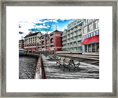Boardwalk Early Morning Framed Print by Thomas Woolworth