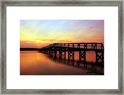 Boardwalk To Heaven 2 Framed Print by Matthew Grice