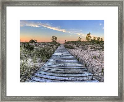 Boardwalk To The Beach Framed Print by Twenty Two North Photography