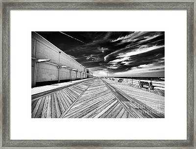 Boardwalk Walk Framed Print by John Rizzuto