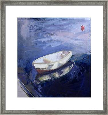 Boat And Buoy Framed Print by Sue Jamieson