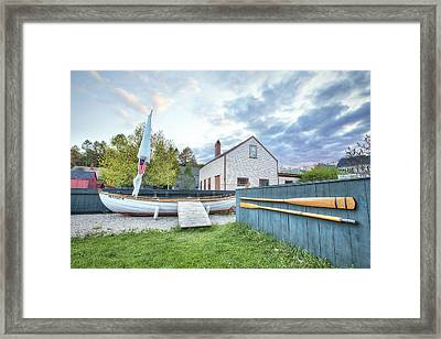Boat And Oars Framed Print by Eric Gendron