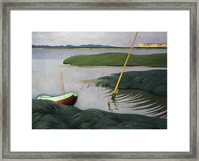 Boat At Berville Framed Print by Felix Edouard Vallotton