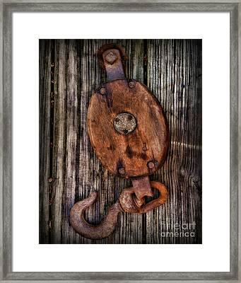 Boat - Block And Tackle Framed Print by Paul Ward