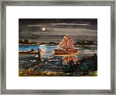 Boat Filled With Light Framed Print by John Williams