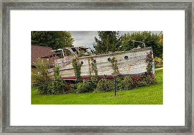 Boat For Sale Framed Print by John M Bailey