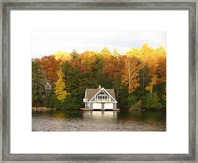Boat House Framed Print by Alfred Ng