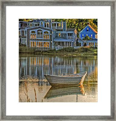 Boat In Late Afternoon Framed Print by Phyllis Meinke